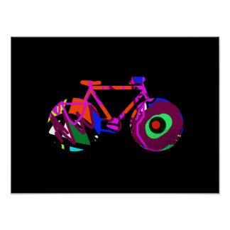 modern art bicycle idea posters