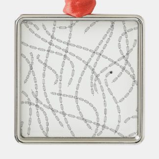 Modern Art - Chain Square Metal Christmas Ornament