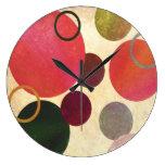 Modern Art Circles Clock