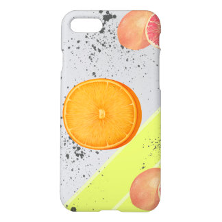 Modern Art Collage Grapefruit and Orange iPhone 8/7 Case