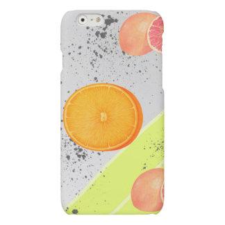 Modern Art Collage Grapefruit and Orange Matte iPhone 6 Case
