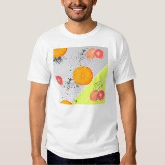 Modern Art Collage Grapefruit and Orange T Shirt