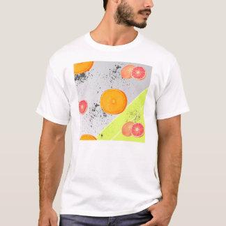Modern Art Collage Grapefruit and Orange T-Shirt