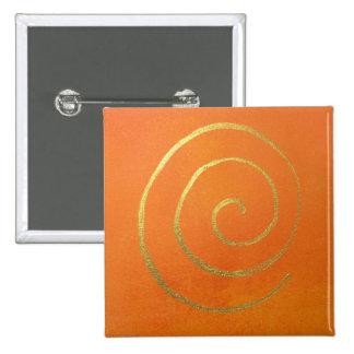 Modern Art Color Fields Orange Gold Elegant Design Button