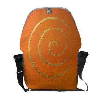 Modern Art Color Fields Orange Gold Elegant Design Messenger Bag