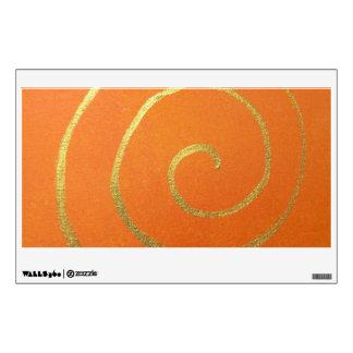 Modern Art Color Fields Orange Gold Elegant Design Wall Decal