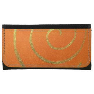 Modern Art Color Fields Orange Gold Elegant Design Wallets