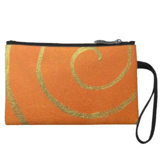 Modern Art Color Fields Orange Gold Elegant Design Wristlet Wallet