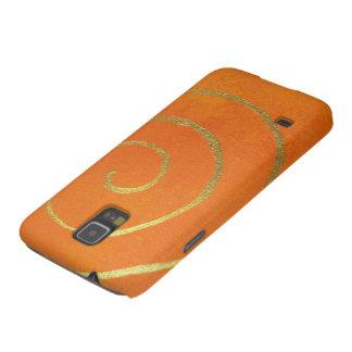 Modern Art Color Fields Orange Gold Swirl Infinity Galaxy S5 Cover
