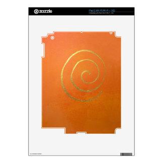 Modern Art Color Fields Orange Gold Swirl Infinity Decal For iPad 2