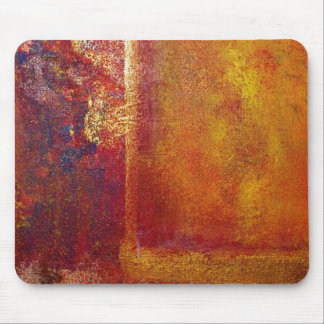 Modern Art Color Fields Orange Red Yellow Gold Mouse Pad