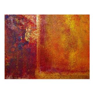 Modern Art Color Fields Orange Red Yellow Gold Postcard