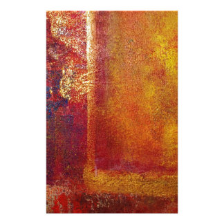 Modern Art Color Fields Orange Red Yellow Gold Stationery