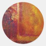 Modern Art Color Fields Orange Red Yellow Gold Sticker
