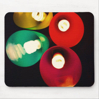 Modern Art Colored Lights Funky Mousepad