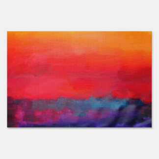 Modern Art Colorful Abstract Painting Lawn Sign