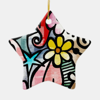 modern Art Colors Design Ceramic Ornament