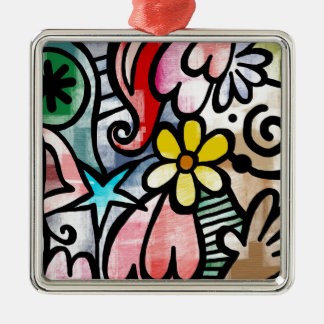 modern Art Colors Design Metal Ornament