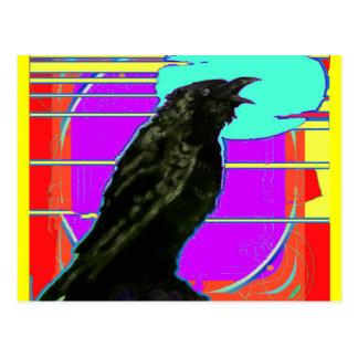 Modern Art Crow by Sharles Postcard