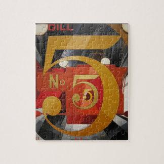 Modern Art Cubist Demuth Figure 5 in Gold Jigsaw Puzzle