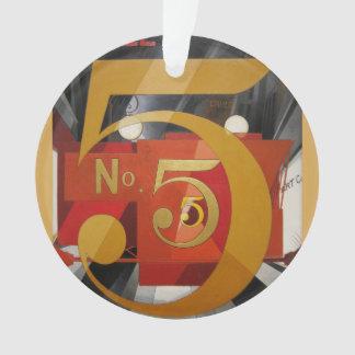 Modern Art Cubist Demuth Figure 5 in Gold Ornament