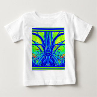 Modern ART DECO Blue Agave Leaves by Sharles Baby T-Shirt