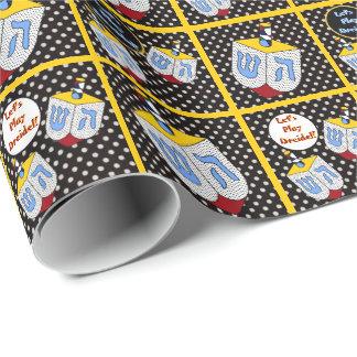 Modern Art Dreidel Gone Dotty Wrapping Paper