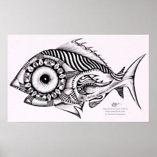 Modern Art Fish Poster / Design, Geometrica from V