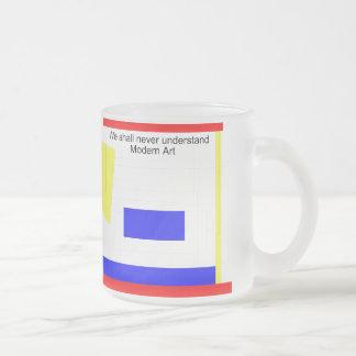 Modern Art Frosted Glass Coffee Mug