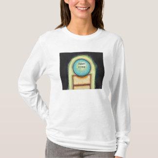 Modern art fun blue circle painting your words T-Shirt