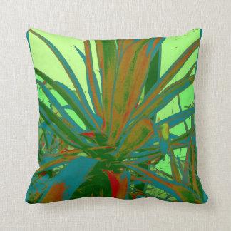 Modern Art Green & Teal Agave Design by Sharles Pillows