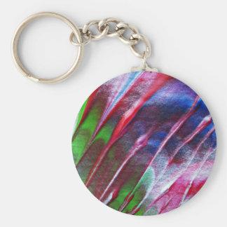 Modern art keychain