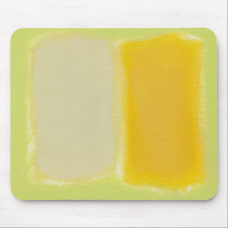 Modern art minimalist painting sunny warm colorful mouse pad