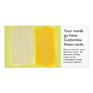 Modern art minimalist painting sunny warm colorful custom photo card