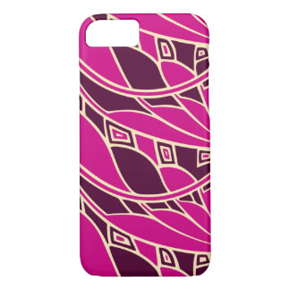 Modern art nouveau tessellations cerise and amber iPhone 8/7 case