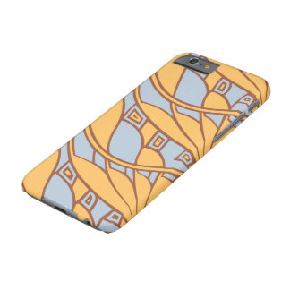 Modern art nouveau tessellations gamboge and azure barely there iPhone 6 case
