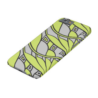 Modern art nouveau tessellations green and gray barely there iPhone 6 case
