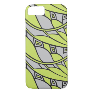 Modern art nouveau tessellations green and gray iPhone 8/7 case
