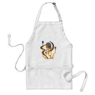 Modern Art Nouveau The lady and the moon Adult Apron