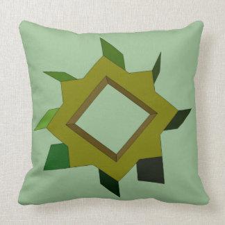 Modern Art Olive Green Mechanica Pillow