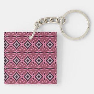 Modern art pattern keychain