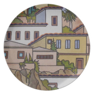 Modern Art Plate - Granada Two