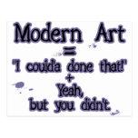 Modern Art Postcard