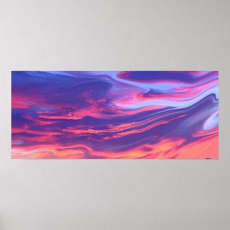 Modern Art - Purple Sunset Sky Poster