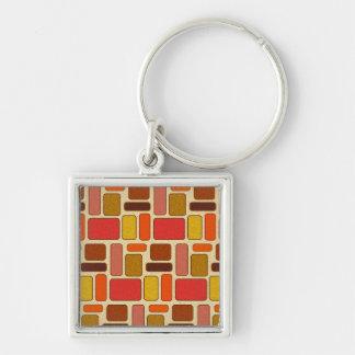 Modern Art Square Pattern Keychain