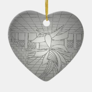 Modern Art Steel Grey Gunmetal Fashionista Fashion Ceramic Ornament