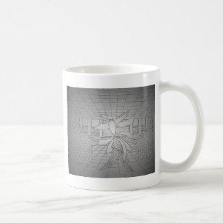 Modern Art Steel Grey Gunmetal Fashionista Fashion Coffee Mug