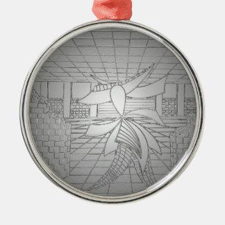 Modern Art Steel Grey Gunmetal Fashionista Fashion Metal Ornament