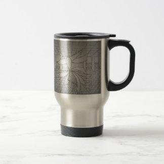 Modern Art Steel Grey Gunmetal Fashionista Fashion Travel Mug