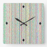 Modern Art Stripes Unique Design Clocks